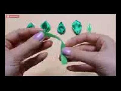 How to make kanzashi leaves petals I 6 Different leaves, Diy kanzashi,Tutorial