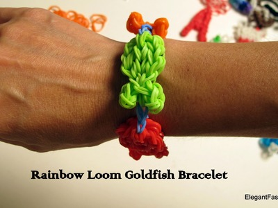 How to make rainbow loom goldfish bracelet or key-chain
