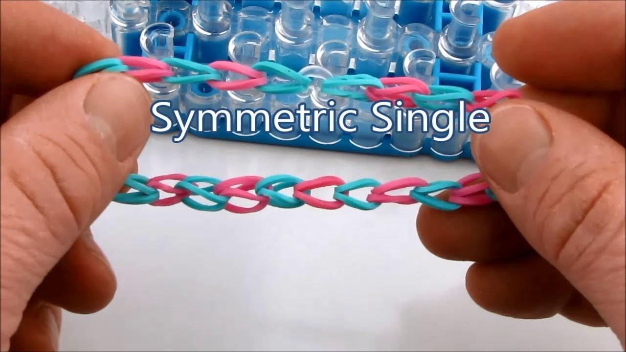 How to make the Symmetric Single bracelet on the Rainbow Loom