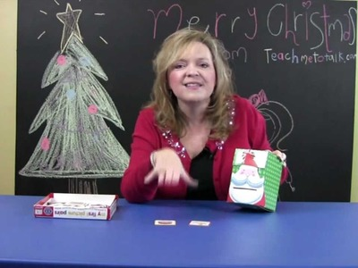 Ideas for Flashcards for Toddlers for Christmas. Therapy Tip of The Week 12.4.12