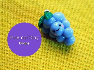 Kawaii Grape °○☺○° Grappolo d'Uva Kawaii - Polymer Clay Tutorial °○
