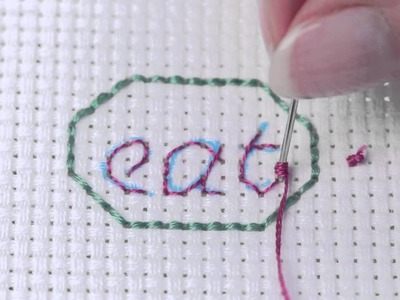 Learn How To Make French Knots on Aida
