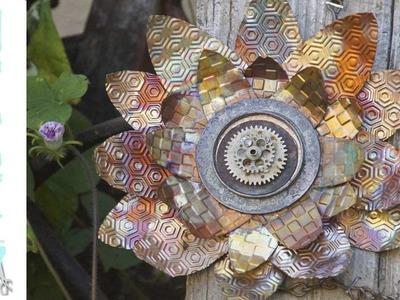 Mixed Media Monday - How to make barnwood and sunflower wall art - Fall Decor