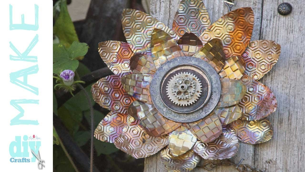 Mixed Media Monday - How to make barnwood and sunflower wall art - Fall Decor