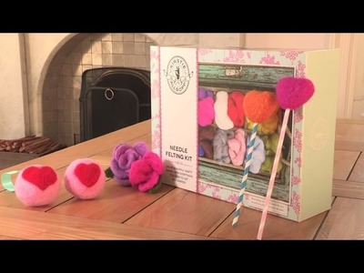 Needle Felting - How to make a bauble using Kirstie Allsopp's kit