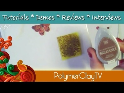 Polymer Clay TV Tutorial how to make Butterfly Earrings with transfer technique