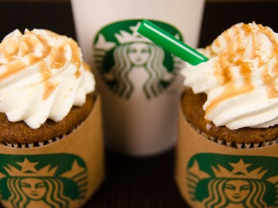 Pumpkin Spice Latte Cupcakes (Starbucks cupcakes) from Cookies Cupcakes and Cardio