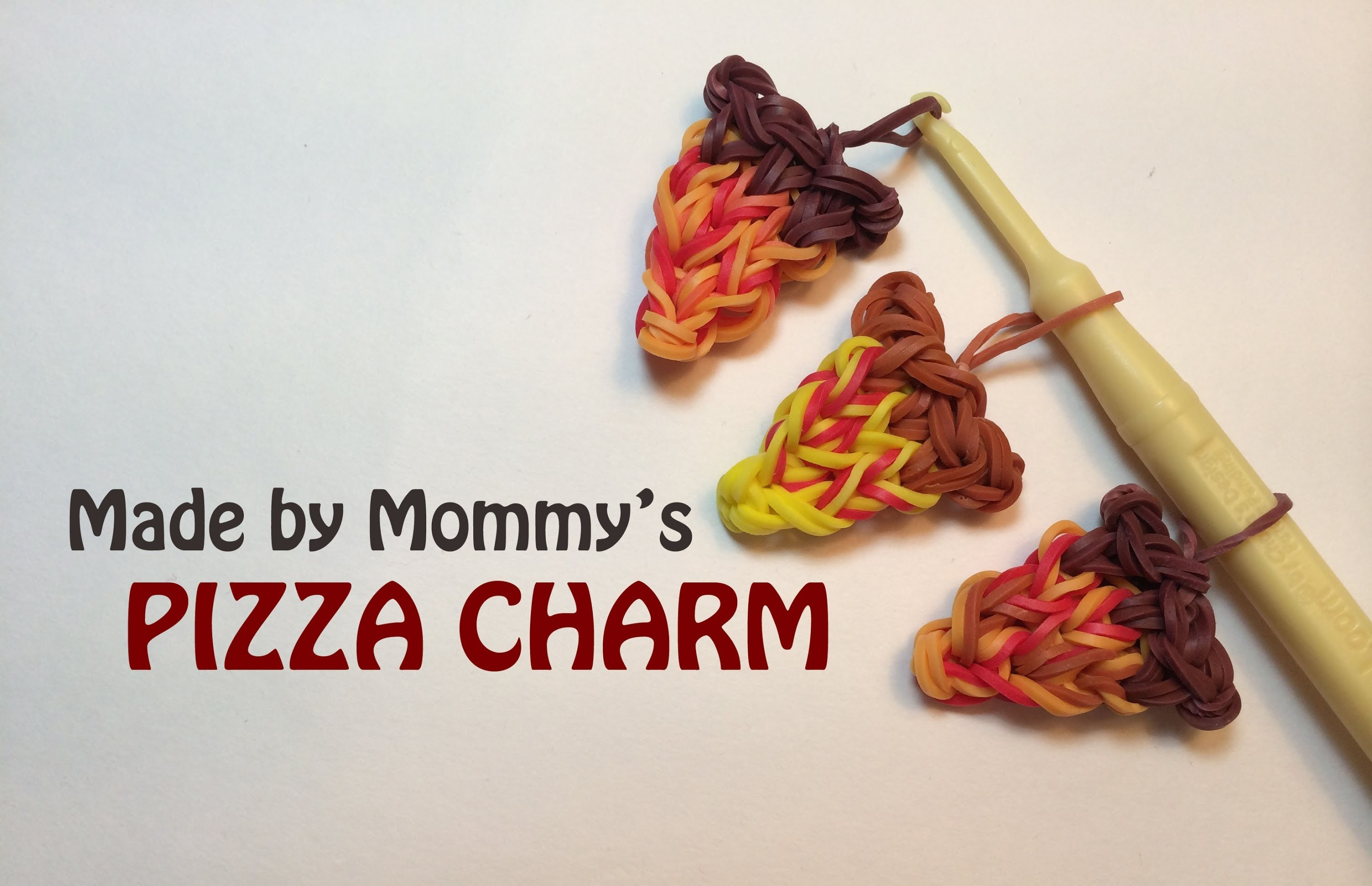 Rainbow Loom Charms: Pizza