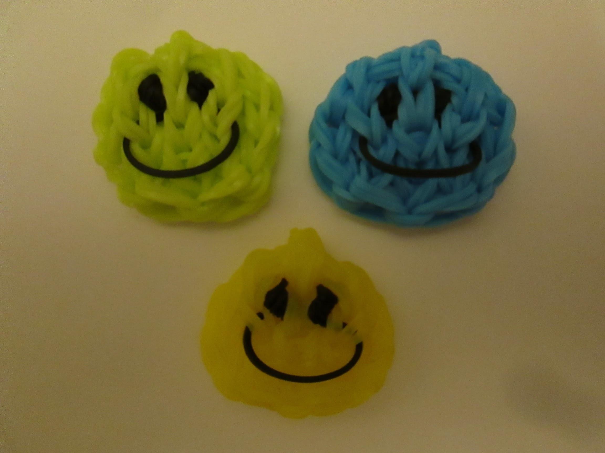 Rainbow Loom Happy Face and Smiley Face Charm. Easy