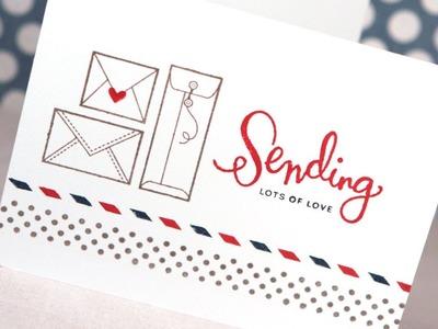 Sending Lots of Love (Simon July 2014 Card Kit)
