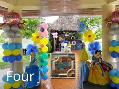 Snow White & Cinderella Decorations Arch Balloons