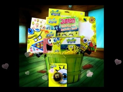 Spongebob Gift Baskets Ideas for boys &  Girls GiftBasket4Kids