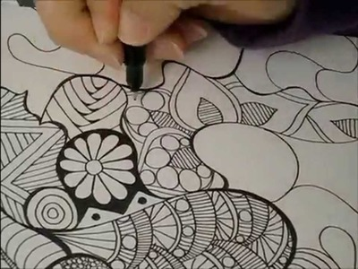Tangled Doodle Art Time-Lapse