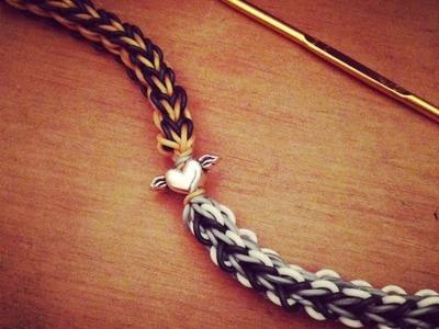 """The Flying V"" Bracelet! Hook Only Quick Tutorial (Rainbow Loom)"