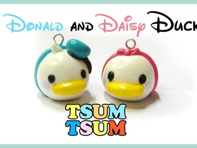Tsum Tsum polymer clay tutorial Donald and Daisy duck _ Disney charms