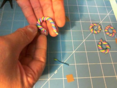 TUTORIAL : Polymer clay earrings - twisted