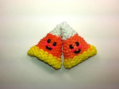 3-D Happy Candy Corn Tutorial by feelinspiffy (Rainbow Loom)