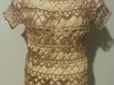 #Crochet Ladies Womens Top Shirt Blouse Posie Stitch #TUTORIAL