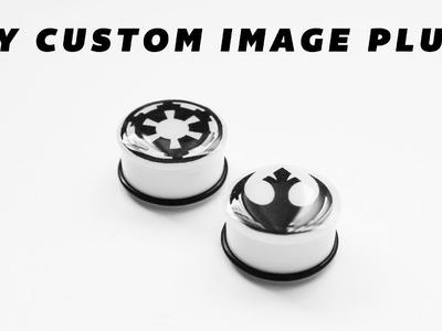 DIY Custom Full Color Image Resin Ear Plugs Body Jewelry
