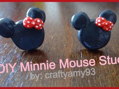 DIY Minnie Mouse Stud Earrings (using Sculpey)