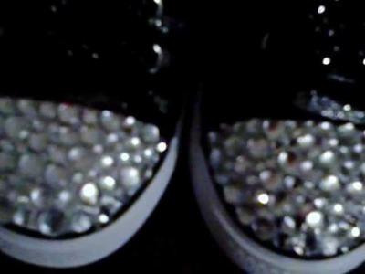 DIY rhinestone shoes 1