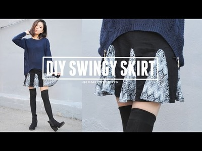 DIY Swingy Flared Skirt for Fall