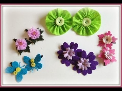 Felt Hair Clips Tutorial