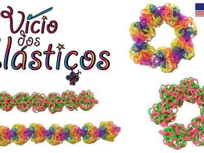 Flower Doily Bracelet (@Waveloomers design) - Rainbow Loom
