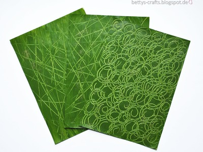 Gemustertes Papier selber machen - Make your own patterned paper