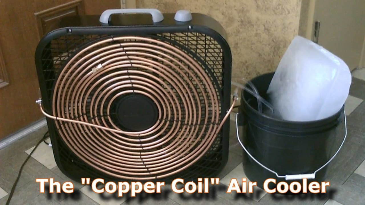 "Homemade AC - The ""Copper Coil"" Air Cooler! - (Simple ""Box Fan"" Conversion) - Easy DIY"