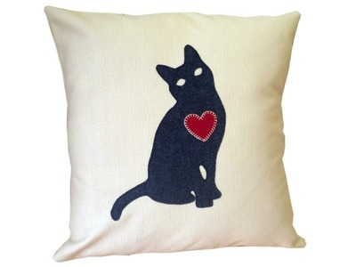 How to make a cat lovers cushion cover with FREE PATTERN by Lisa Pay