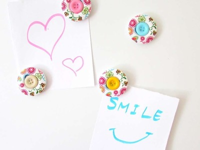 How To Make Decorative Button Fridge Magnets - DIY Crafts Tutorial - Guidecentral