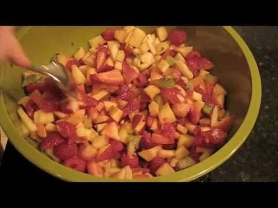 How to make fruit salsa and cinnamon tortillas