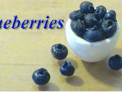Miniature Blueberries :Polymer Clay Tutorial