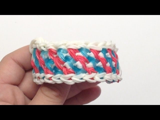 *NEW!* How to Make a Rainbow Loom Interweaved Lock Bracelet! (Requires 2 Looms)