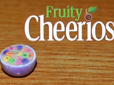 Polymer clay Fruity Cheerios cereal bowl tutorial