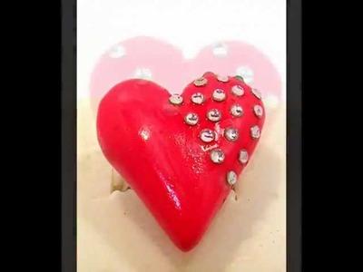 Polymer clay jewelry - MKdesigns - Valentines Day Jewelry