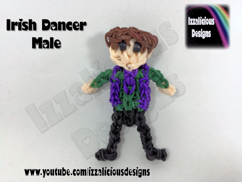 Rainbow Loom - Irish Dancer () Action Figure.Doll.Charm - St Patricks Day