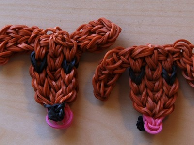 RAINBOW LOOM PUPPY LOVE CHARM OR BRACELET