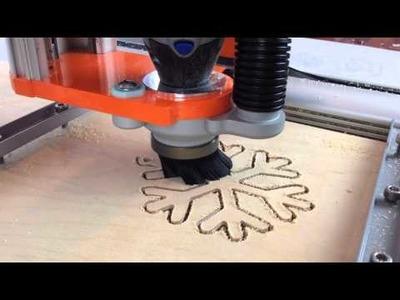 Stepcraft Craft Project - Cutting a Snowflake
