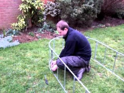 Assembling a Fenland Ironworks standard straight bar garden arch in under three minutes