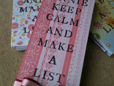 Book Binding - How to make a list pad