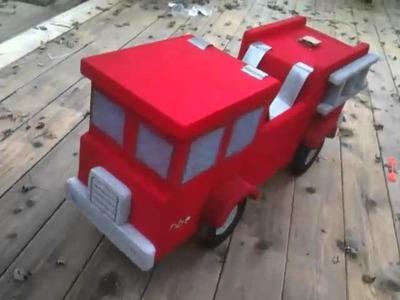 Coolest Homemade Fireman and Fire Truck Halloween Costume