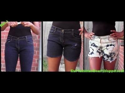 D.I.Y: Distressed, acid wash shorts tutorial