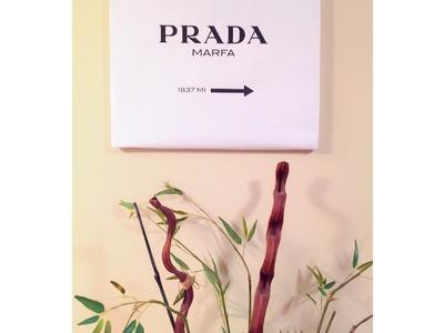 D.I.Y. Prada Marfa Sign Under $5   Tumblr Inspired Room Decor