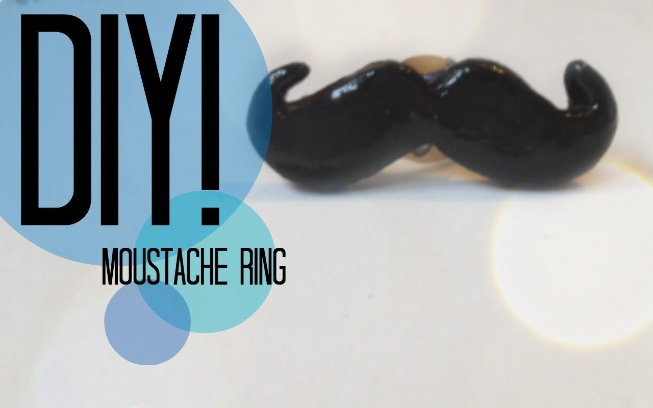 DIY  How To Make A Moustache Ring
