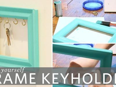DIY Picture Frame Key Holder