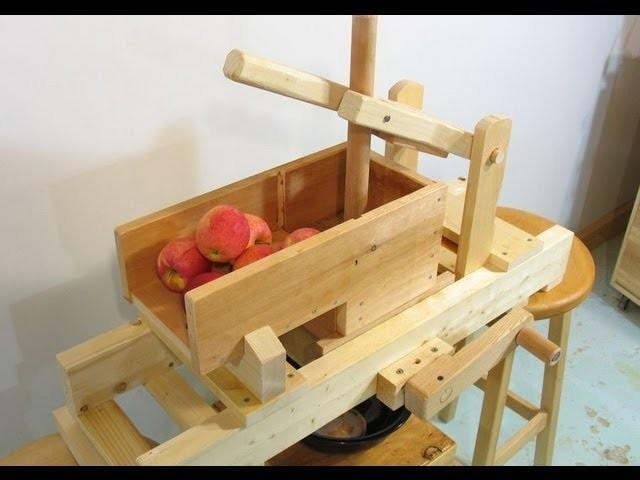Homemade apple grinder