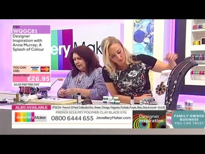How to make Jewellery using Polymer Clay  02.10.14 - Designer Inspiration with Anne
