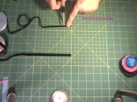 How to Make Ribbon Lined Hair Clips with Velvet Grips and Attach to Singed Flowers